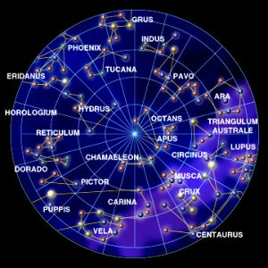 mapa constelación hemisferio sur